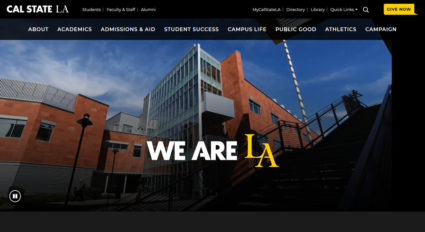 California State University, Los Angeles website