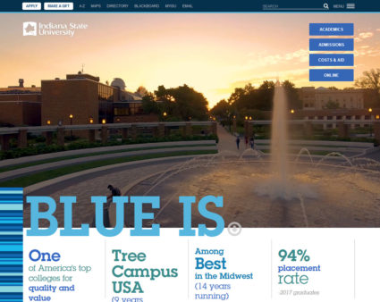 Indiana State University website