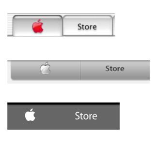 The evolution of menu design from Apple's website with screenshots from 2000, 2010, and 2015.